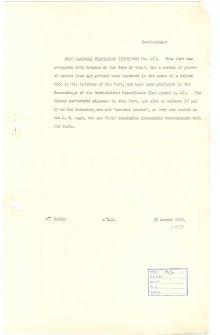 Scanned copy of RCAHMS Marginal Land Survey unpublished typescripts (Berwickshire).