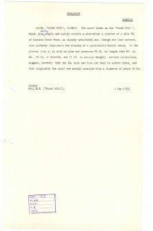 Scanned copy of RCAHMS Marginal Land Survey unpublished typescripts (Dumbartonshire).