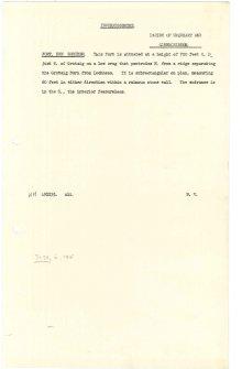 Scanned copy of RCAHMS Marginal Land Survey unpublished typescripts (Inverness-shire).