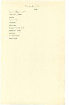 Scanned copy of RCAHMS Marginal Land Survey unpublished typescripts (Morayshire).