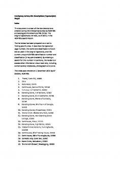 RCAHMS Emergency Survey site descriptions: Angus. Scan of typescripts.