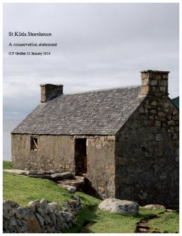 St Kilda Storehouse, a conservation statement. Unpublished report by G F Geddes for The National Trust for Scotland. [Includes a discussion of the 18th century fishing station at Rodel.]