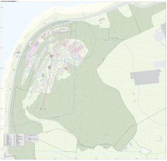 Cloch Battery site plan. Interactive pdf map.