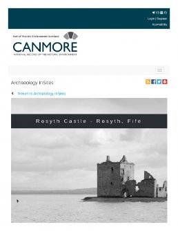 Digital copy of Archaeology InSites feature regarding Rosyth Castle - Rosyth, Fife
