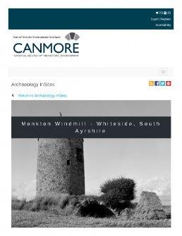 Digital copy of Archaeology InSites feature regarding Monkton Windmill - Whiteside, South Ayrshire