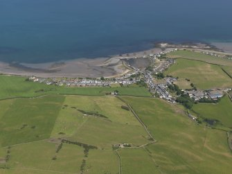 General oblique aerial view of Drummore, taken from the WSW.