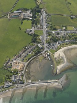 Oblique aerial view of Drummore, taken from the NE.