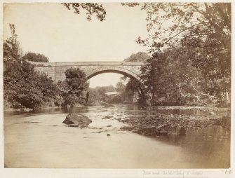 Page 3/6. View from North-West showing old and new bridges. Titled 'New and Auld Brig O'Doon.' PHOTOGRAPH ALBUM NO 146 : THE ANNAN ALBUM Page 3/6