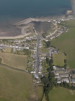 General oblique aerial view of Drummore village, taken from the SW,