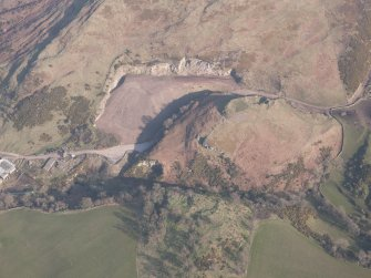 Oblique aerial view of Castle Craig and Kay Craig, looking ESE.
