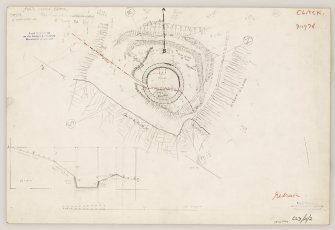 Plane-table survey and section: fort at Castle Craig.