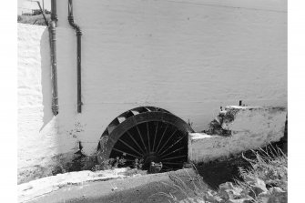Drummore, Mill Street, Wyllie's Mill View from WNW showing waterwheel