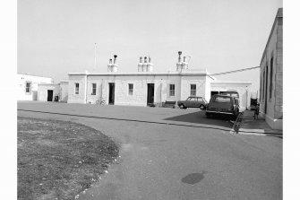 Kinnaird Head Lighthouse View of keeper's houses