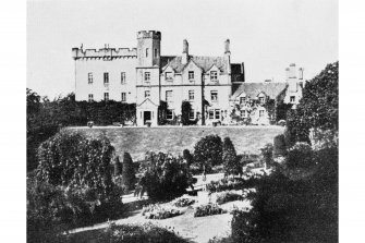 Craignish Castle General view from east before demolition of wing