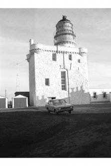 Fraserburgh, Kinnaird Head Lighthouse View from S showing SSE and WSW fronts