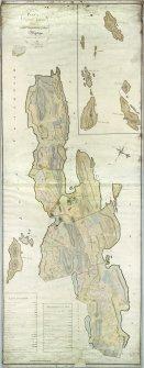 Craignish Castle. Digital copy of both halves of plan of estate by George Langlands.