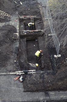 Excavation photographs: Queensberry House, prior to the construction of the Scottish Parliament.