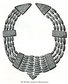 Drawing of the jet necklace (Hewison 1893, 70). SC1161380 Copyright RCAHMS