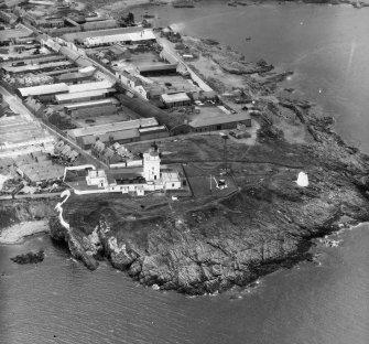 Kinnairds Head Lighthouse Fraserburgh, Aberdeenshire, Scotland. Oblique aerial photograph taken facing South/West.