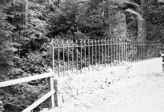 Fingask Castle, Craig Burn Bridge. General view of roadway.