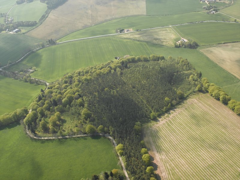 General oblique aerial view centred on Cothiemuir Wood, taken from the E.