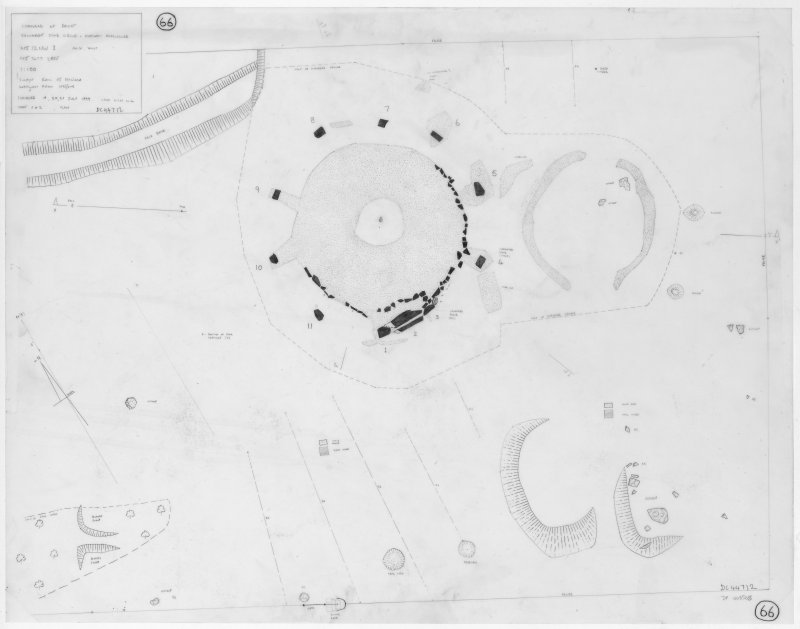 Plan of stone circle and enclosed cremation cemetery