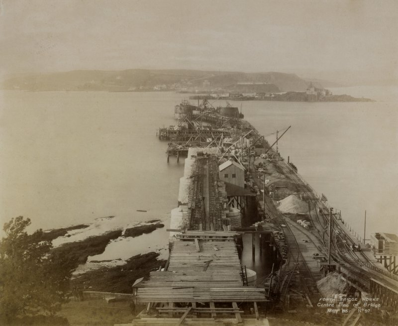 Forth Bridge Works: Central line of Bridge, No. 97