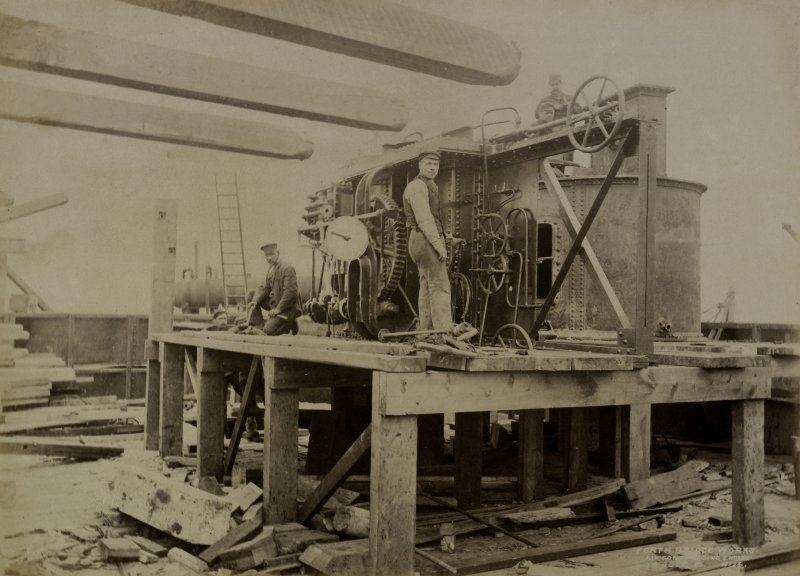 Forth Bridge Works: Air compressing engine, No. 24