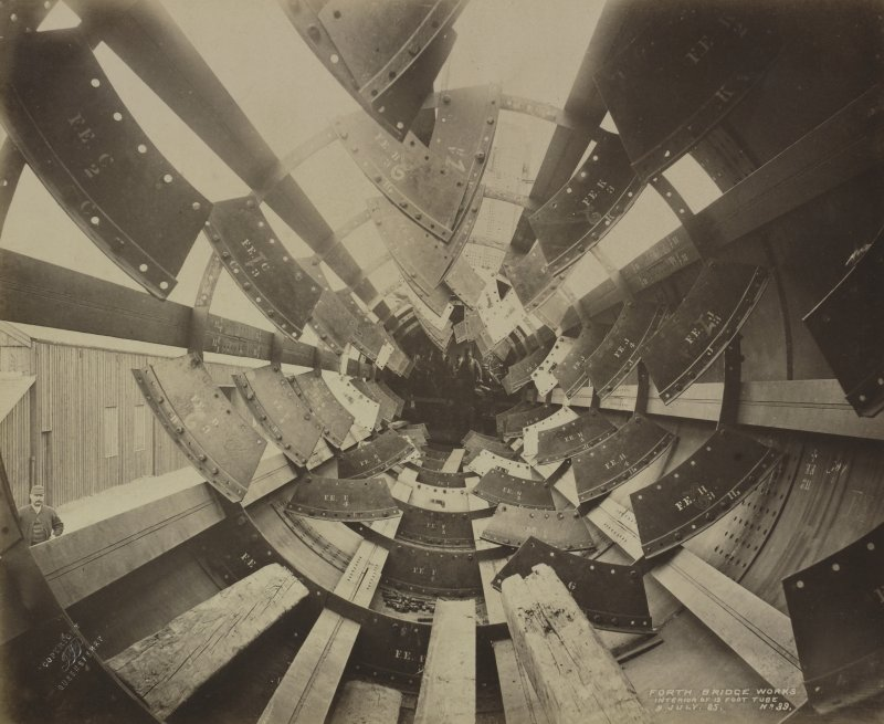 Forth Bridge Works: Interior of 12 foot tube, No. 39