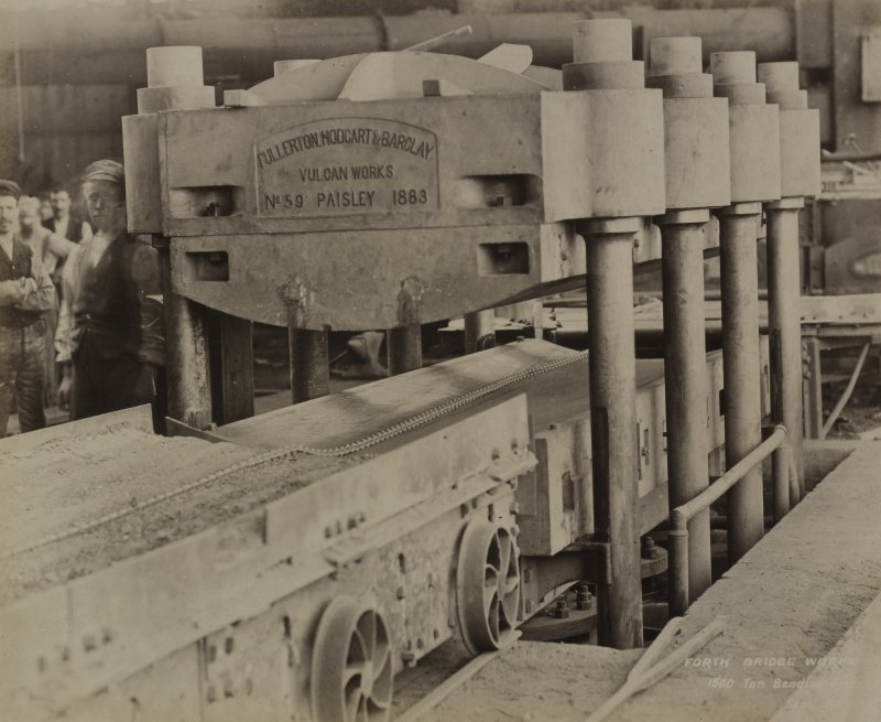 Forth Bridge Works: 1500 ton bending press [Fullerton, Huddart & Barclay, Paisley], No.[39B]
