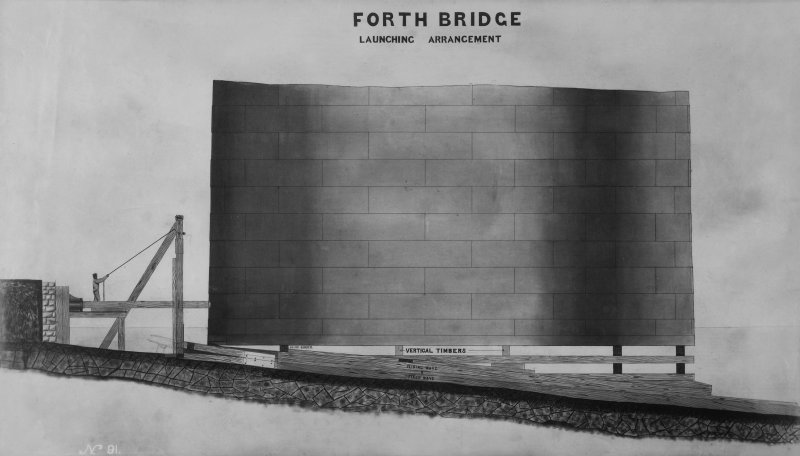 Forth Bridge Works: Launching Arrangement, No. 91