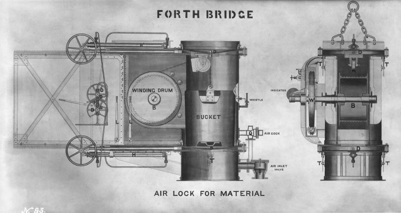 Forth Bridge Works: Air Lock for Material, No.93