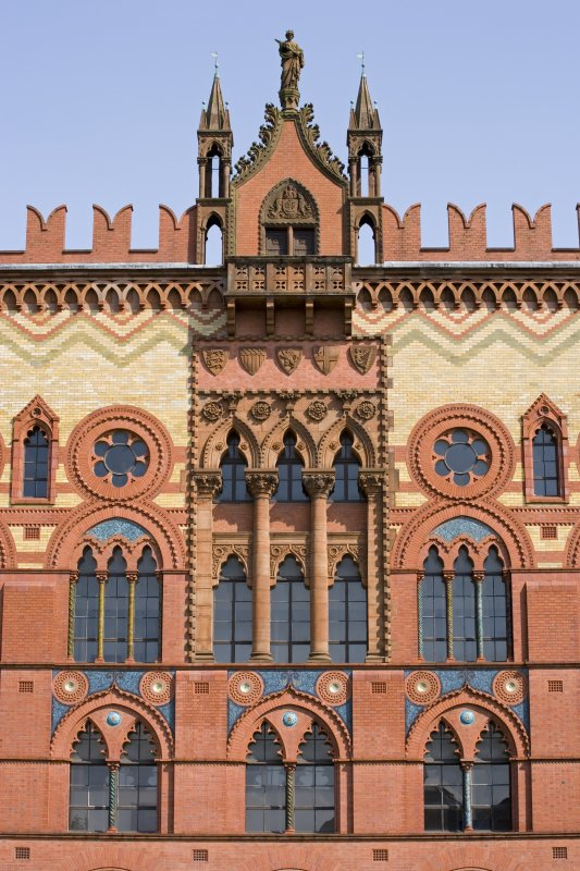 Detail of NW Facade of Templeton's Carpet Factory, Glasgow.