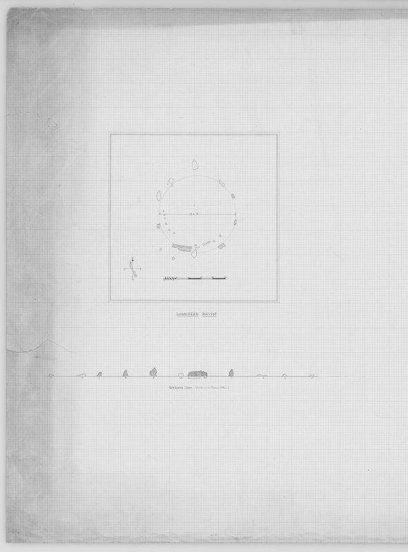 Plan & Section, LOANHEAD OF DAVIOT (RECUMBENT STONE CIRCLE)