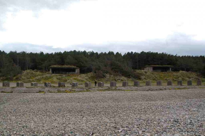 The two gun emplacements at the emergency coastal battery in Lossie Forest