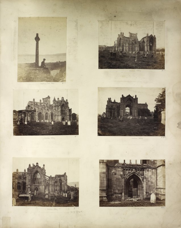 Six views of Melrose Abbey and Maclean's Cross, Iona.