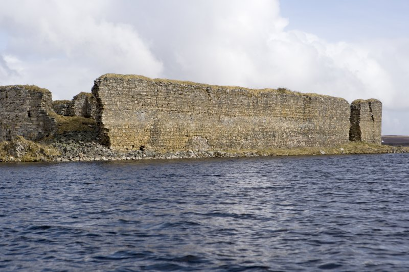 E wall, view from loch to S
