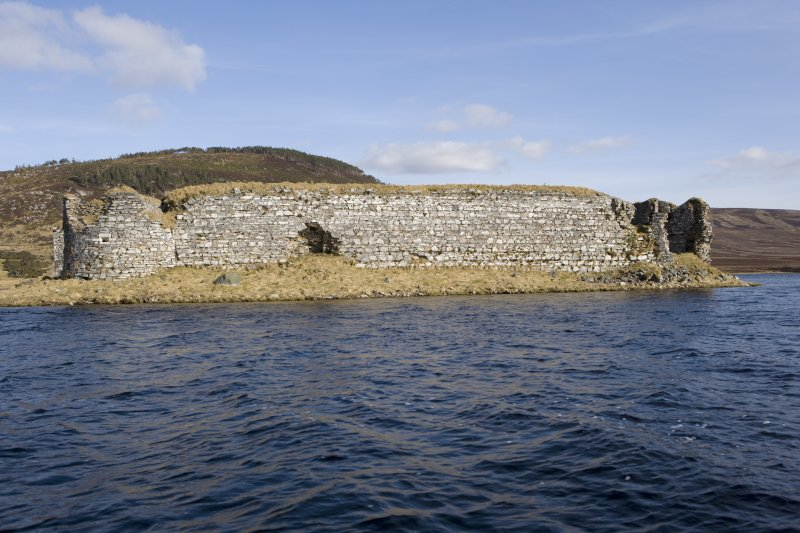 W wall, view from loch to W