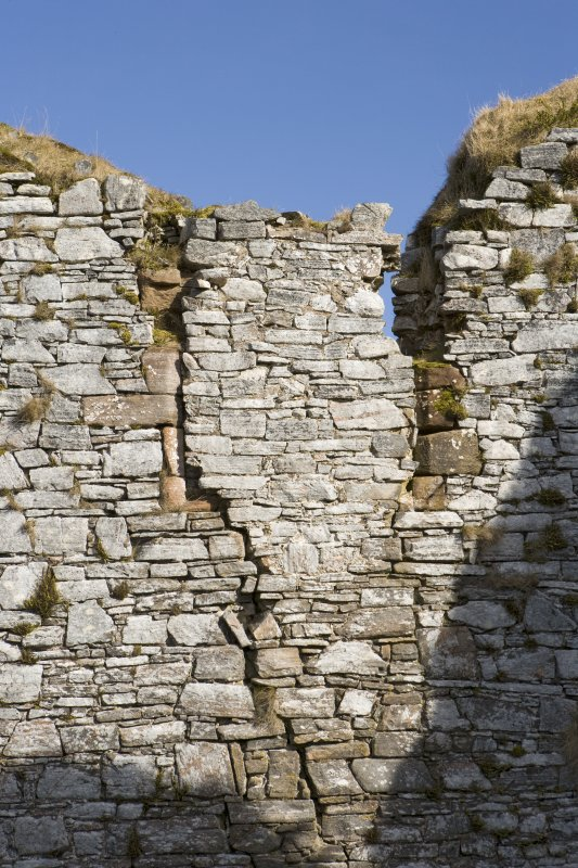 Great Hall, W wall, detail of blocked window at upper level