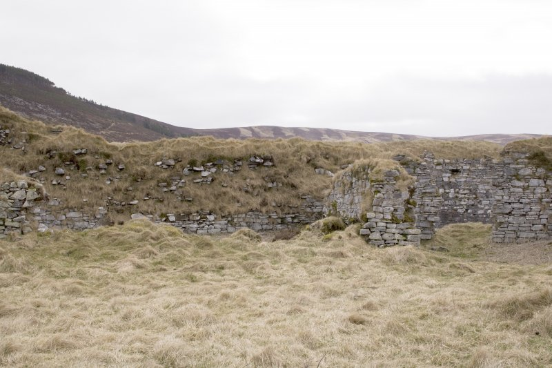E wall, view from centre of courtyard (panorama image 12) image