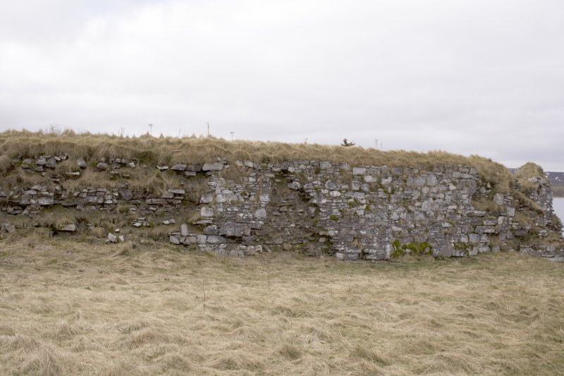 S wall, view from centre of courtyard (panorama image 21)
