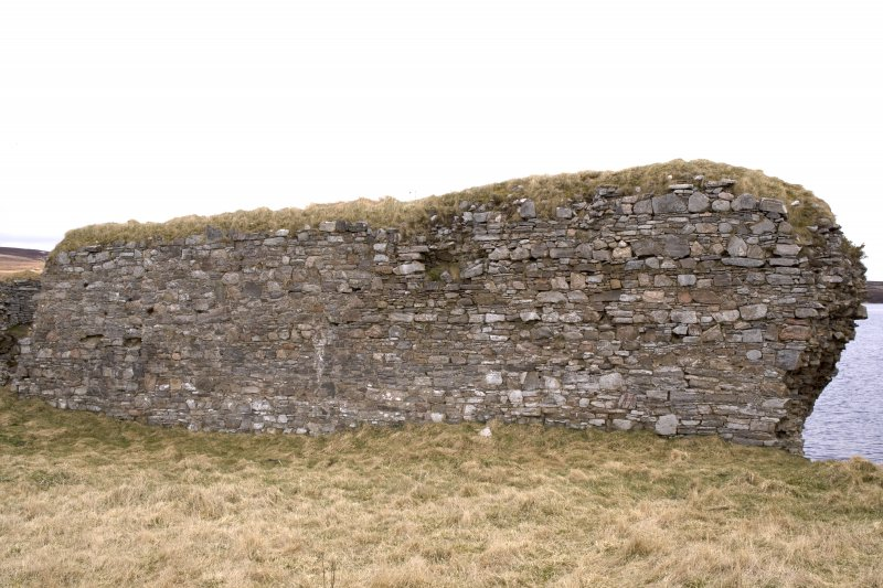 N wall, view from centre of courtyard (panorama image 34)
