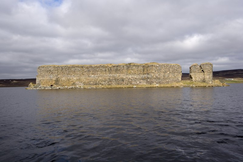 E wall, view from loch to E