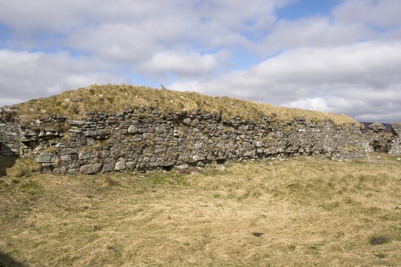 W wall, view from SE