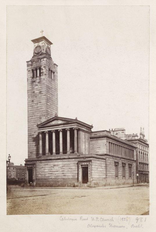 Page 26V/6General view of Caledonia Road Church, 1 Caledonia Road, Glasgow from South Titled: 'Caledonia Road U.P. Church (1856)  981  Alexander Thomson, Archt.' PHOTOGRAPH ALBUM NO 146: THE THOMAS ANNAN ALBUM