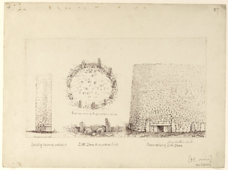 Christian Maclagan's reconstruction of the stone circle as a tower like a broch