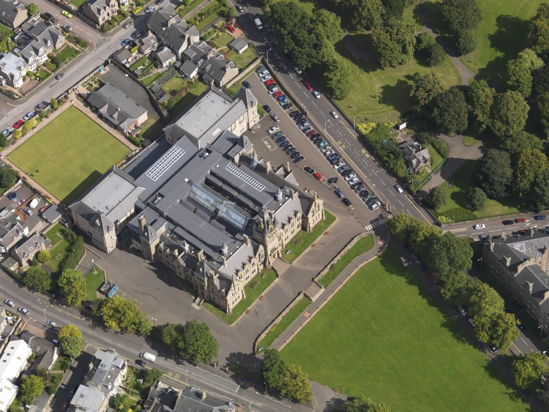 Oblique aerial view of the academy taken from the ESE.