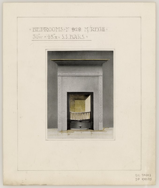 Proposed fireplace for Bedrooms in Hamilton Municipal Buildings.