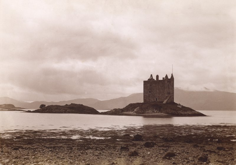 View of Castle from East Titled: 'Castle Stalker, Appin.'