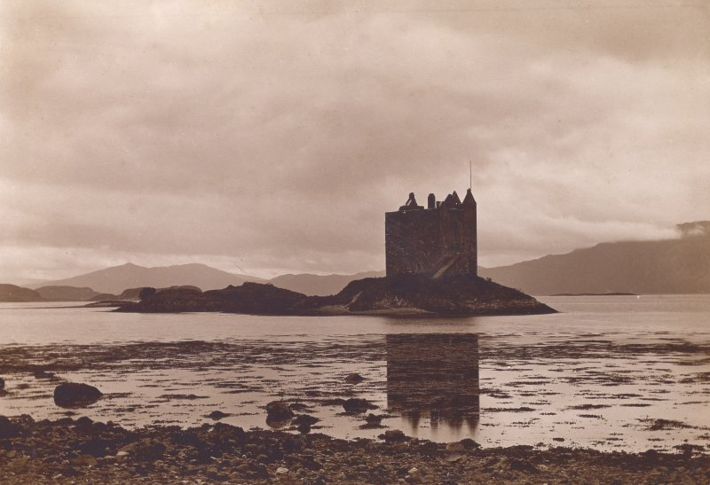 View of  Castle Stalker from East Titled: 'Same' (refers to previous page PA 7/22V).